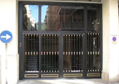 Cerramiento entrada garaje